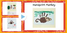 Handprint Monkey Craft Instructions PowerPoint