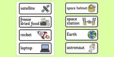 Space Station Role Play Labels