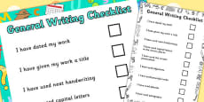 General Writing Checklist