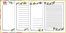 Page Borders to Support Teaching on The Enormous Crocodile