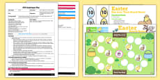 'One Less Than' Easter Board Game EYFS Adult Input Plan and Resource Pack