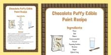 Chocolate Puffy Edible Paint Recipe