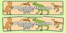 Dinosaur Museum Display Banner
