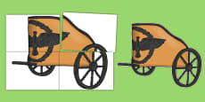 Ancient Greece Greek Chariot Cut Out