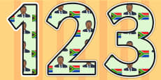Nelson Mandela Themed Display Numbers