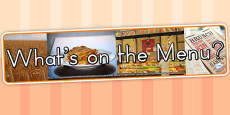 Australia - Whats on The Menu Photo Display Banner
