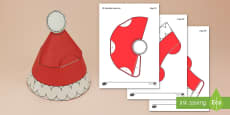 Simple 3D Wearable Santa Hat Paper Craft