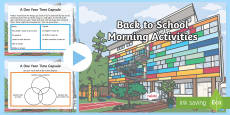Back To School Morning Activities Upper Primary PowerPoint