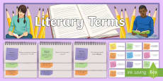 Literary Terms Display Pack