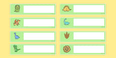 Cute Dinosaur Themed Editable Gratnells Tray Labels