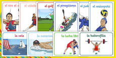Rio 2016 Olympics Sport Posters Spanish