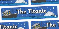 The Titanic Display Banner (Night)