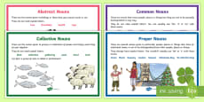 Types of Noun Display Posters