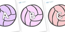 A-Z Alphabet on Balls