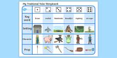 Traditional Tales Storyboard Activity Sheet