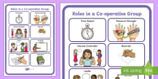 Roles in a Co-Operative Group Display Poster