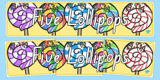 Five Lollipops Display Banner