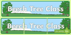 Beech Tree Themed Classroom Display Banner