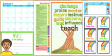 Class Management Teacher Folder Complete Resource Pack