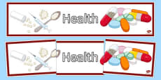 Health Display Banner