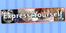 Express Yourself Photo Display Banner