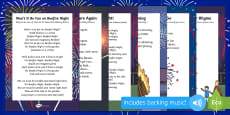 Bonfire Night Themed Songs and Rhymes Resource Pack