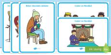 Winter Activities Display Posters - Spanish