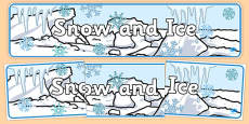 Snow and Ice Display Banner