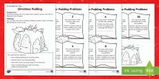 Christmas Pudding Activity Sheet