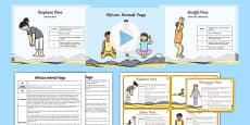 African Animal Yoga Story PowerPoint Pack