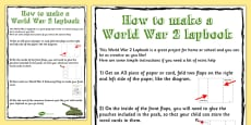 World War Two Lapbook Instructions