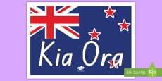 Kia Ora Display Poster Te Reo Māori