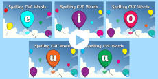 CVC Words Mixed Spelling PowerPoint Pack
