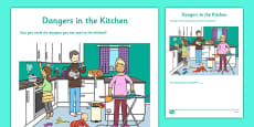 Dangers in the Kitchen Activity Sheet