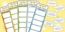 Year 3 Maths Assessment Bookmarks and Cut Outs