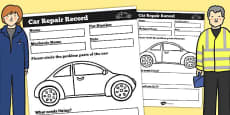 Mechanic Roleplay Area Car Repair Record