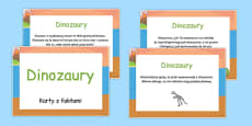 Dinosaur Display Fact Cards Polish