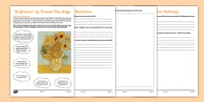Sunflowers by Van Gogh Art Appreciation Activity Sheet