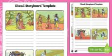 Rama and Sita Diwali Storyboard Template