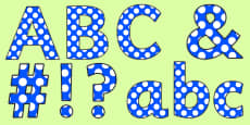 Polka Dot Display Lettering