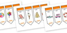 Editable Seaside Bookmarks