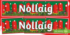 CfE Christmas Display Banner (Scottish Gaelic) Display Banner Gaelic