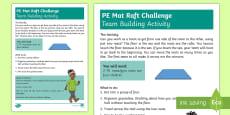 KS1 P.E Mat Raft Challenge Activity Sheet
