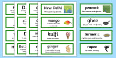 India Vocabulary Cards