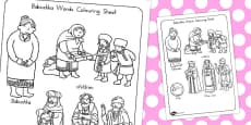 Australia - Babushka Words Colouring Sheet