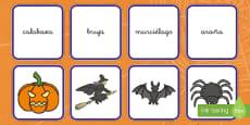 Tarjetas de emparejar Halloween