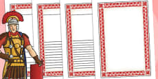 The Romans Themed Writing Frames