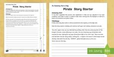 Pirate Story Starter Activity Sheet