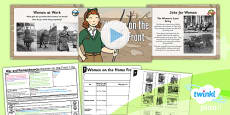 History: War and Remembrance: Women on the Home Front KS1 Lesson Pack 5