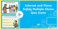 Internet and Phone Safety Multiple Choice Quiz Game